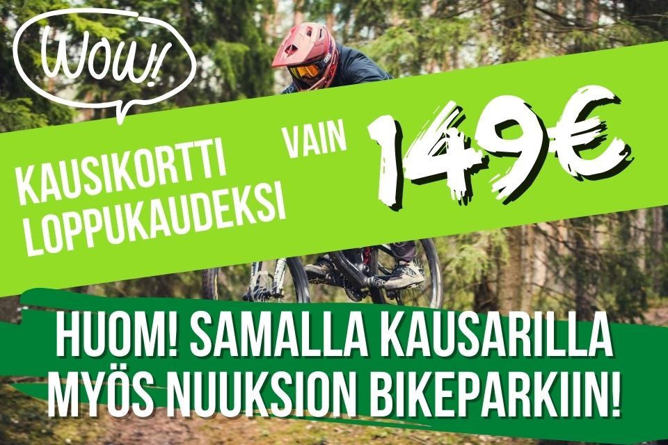 Bikepark kausikortti vain 149€
